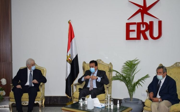 The Minister of Higher Education presides over the meeting of the Council of Private and Ahli Universities on the campus of the Egyptian Russian University